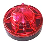 Roadside Flashing Flare Safety Warning Lights Emergency LED Strobe Lights, Magnetic Base Vehicles and Vessels (Red)