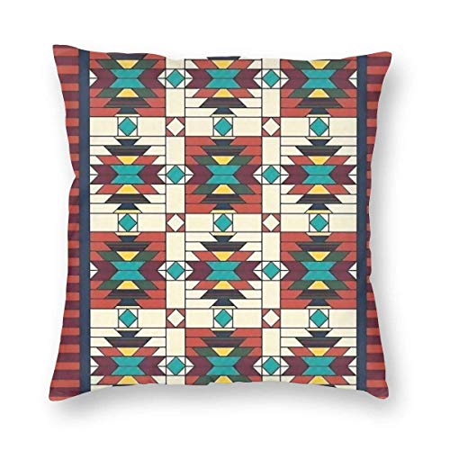 Mackinto Native American Decorative Square Throw Pillow Cases Soft Soild Cushion Covers for Sofa Bed Chair 18 X 18 in
