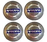 Genuine Volvo 30671515, Silver Wheel Hub Cap Kit (Set of 4)