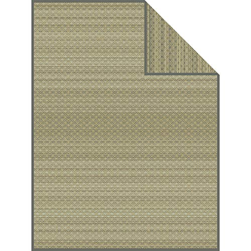 Ibena Wolldecke Sitra 1360 / Kuscheldecke Gemustert grün/grau/Tagesdecke 150x200cm / hochwertige Baumwollmischung & kuschelweiche Qualität/in 2 erhältlich