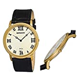Breed George Leather-Band Swiss Men's Watch - Gold/Silver