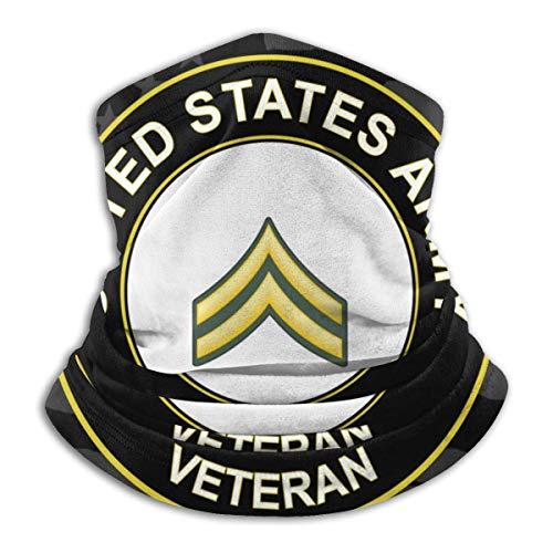 XXWKer Microfibre Chapeaux Tube Masque Visage Tour de Cou Cagoule, US Army Corporal Veteran Fleece Neck Warmer Neck Warmer Winter Neck Warmer