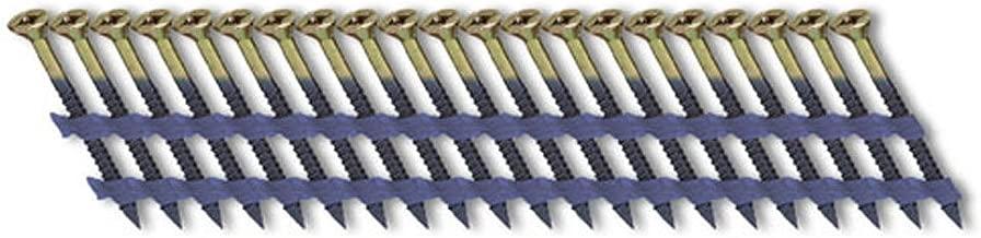 Fasco SCFP1013CSEG Scrail Fastener  Coarse Thread 20-22-Degree Plastic Strip Electro-Galvanized Square Drive, 3-Inch x .113-Inch, 1000 Per Box