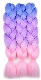 BACANA Ombre Braiding Hair Kanekalon Braiding Hair Extensions 3Pcs Jumbo Braiding Hair..