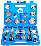 JOMAFA - Reposicionador de pistones de frenos 23 piezas retractor adaptador 10 (para reposicionar el pistón de freno al cambiar los discos, las zapatas o las pastillas de freno)