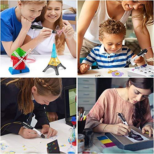 3D Pen + PLA Fliament Set, Lovebay 3D Stift mit LCD-Bildschirm + 12 Farben je 3,1M, Φ1,75 mm 3d Filament – insgesamt 120 Feet, DIY Geschenk für Kinder Anfänger Erwachsene Zeichnung, kompatibel mit 1,75 mm ABS/PLA 3D Printing Material - 7
