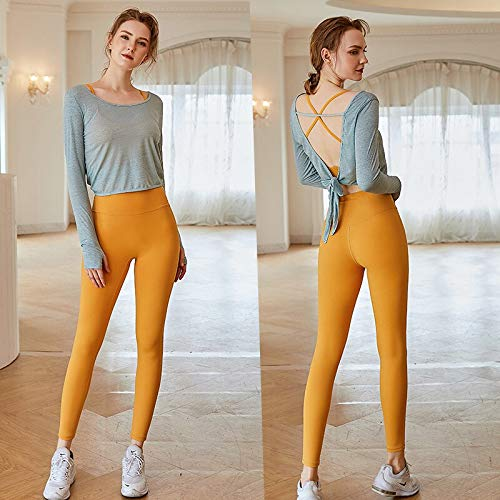 MYERZI Ropa sin Costuras Mujeres Sportswear Set de Yoga Conjunto de chándales Ropa Deportiva Pantalones de Jogging Gimnas (Color : 3pcs Sets Green, Size : L)