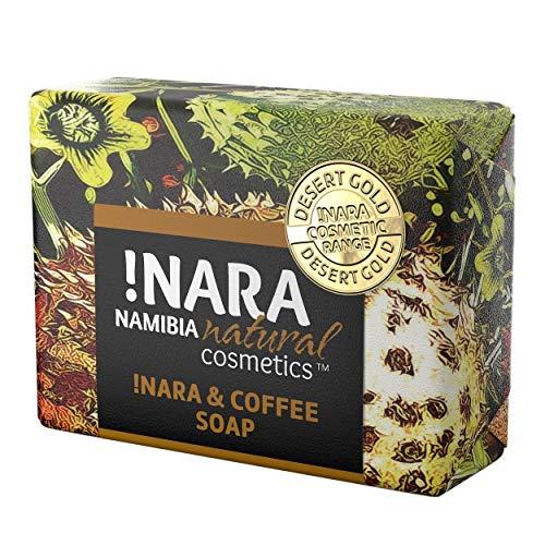 !Nara Bio Naturkosmetik Seife mit Kaffee & Zimt 80g milde öl-Seife zur täglichen Gesichtspflege und Körperpflege mit heilender antibakterieller Wirkung für empfindliche Haut und Problemzonen
