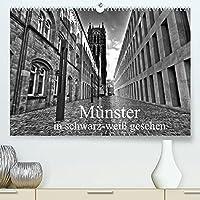 Muenster in schwarz-weiss gesehen (Premium, hochwertiger DIN A2 Wandkalender 2022, Kunstdruck in Hochglanz): Muenster, eine westfaelische Metropole, eine sehenswerte Stadt. (Monatskalender, 14 Seiten )