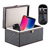 Homealexa Keyless Go Schutz Autoschlüssel Box, RFID Signal Blocker Box für Autoschlüssel Funkschlüssel Abschirmung Diestahlschutz Faraday Box mit Schlüsseltasche strahlungsschutz (1 Box + 1 Tasche)