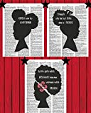 Young African American Girl Wall Art Black Girl Inspirational Quotes Bedroom Wall Decor Girl Power Dictionary Art Print 8x10