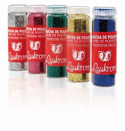 Paillettes colorées Laukrom, Flacon verre de 8g Argent