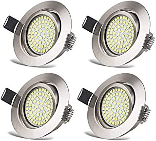 comprar comparacion HYDONG Luces de techo LED empotradas 6000K downlight integrado, focos ultradelgados 400LM IP20 con protección de níque...