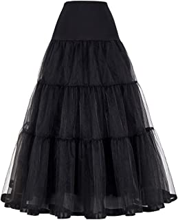 Women's Floor Length Wedding Petticoat Long Underskirt for Formal Dress
