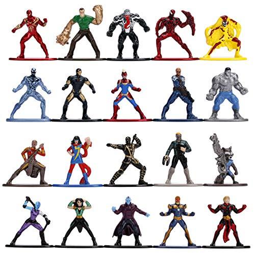 Jada Toys 253225010 Wave 3 Marvel 20-Pack Nano Sammelfiguren, Welle 3, 20 Stück/Set, Die-cast, 4 cm, Mehrfarbig