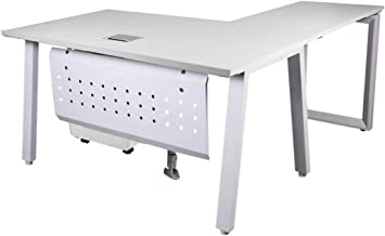 Mahmayi Bentuk 139-16L White Modern Workstation