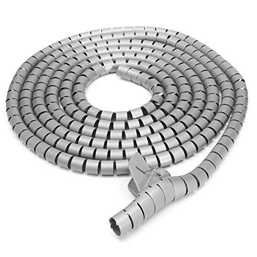 SUPERTOOL Organizador de cables en espiral para organizar cables con abrazadera de...