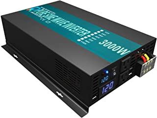 Reliable 3000W High Efficiency Pure Sine Wave Solar Power Inverter 12V 120V 60Hz Power Converter LED Display