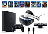 PlayStation VR Deluxe Bundle 12 Items:VR Start Bundle,PS4 Pro 1TB,8 VR Game Disc Rush of Blood,Valkyrie,Battlezone,Batman,DriveClub,Eagle, RIGS,Resident Evil 7:Biohazard(Versione USA, importato)
