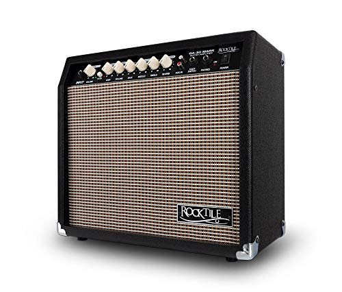 Rocktile GA-30 Mark Gitarrenverstärker (30 Watt Gitarrencombo, 2 Kanäle (Clean/Drive), 8