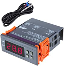 Temp/érature De Haute Pr/écision Tout Usage KKmoon AC110-240V LED Contr/ôleur Num/érique Thermostast 2 Relais Avec Capteur NTC Alarm Et ℉ Alarme De Temp/érature