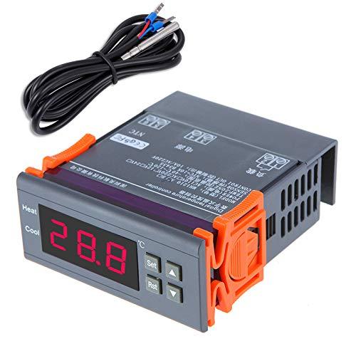 KKmoon Digitaler Temperaturregler, Thermoelement mit Sensor 3 wattsW, 240 voltsV