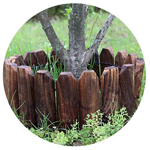 Gartenzaun Außenterrasse Garten Anti-Korrosions-Holz-Zaun Hochtemperatur-Verkokung Wetter Imprägnierung Raumsegmentierung, 4 Größen (Farbe: Braun, Größe: 118X46CM) yqaae