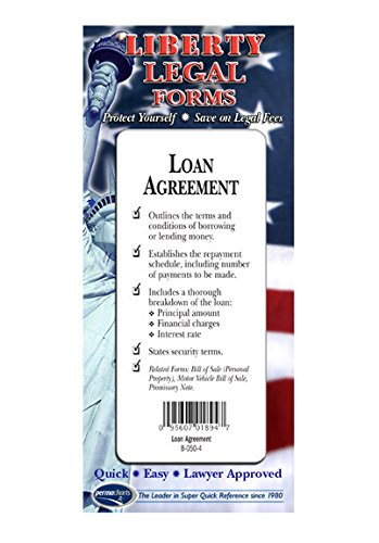 Loan Agreement Form - USA - Do-it-Yourself Legal Forms by Permacharts