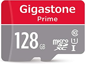 Gigastone 128GB MicroSD Card UHS-I U1 Class 10 Micro SDXC Memory Card up to 95MB/s with SD Adapter, Nintendo, Dashcam, GoPro, Camera, Samsung, Canon, Nikon, DJI, Drone