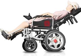 ZHANGYY Silla de Ruedas eléctrica de Viaje Ligera y Plegable para Transporte en Silla de Ruedas para Personas Mayores con discapacidades Silla de Ruedas eléctrica (Color: batería de Litio