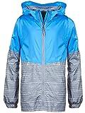 Arctic Quest Children's Colorblock Windbreaker Jacket with Jersey Lining & Hood Turquoise 8