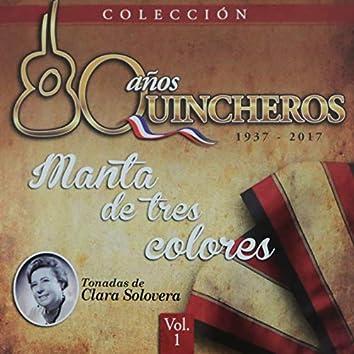80 Años Quincheros - Manta De Tres Colores