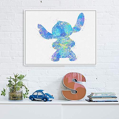 Póster de la película de animación de acuarela con diseño de dibujos animados para sala de estar, habitación de los niños, decoración para pared, 30 x 45 cm, sin marco