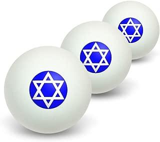 Graphics and More Star of David - Shield Jewish Novelty Table Tennis Ping Pong Ball 3 Pack