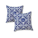 Greendale Home Fashions 17 in. Outdoor Accent Pillow (set of 2),...