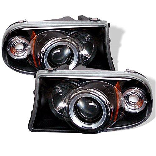 Spyder 5009784 Dodge Dakota 97-04 / Durango 98-03 1PC Projector Headlights - LED Halo - LED ( Replaceable LEDs ) - Black - High H1 (Included) - Low H1 (Included) (PRO-YD-DDAK97-BK)