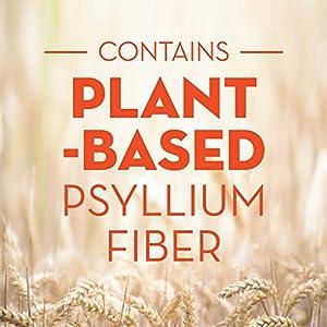 Metamucil, Natural Psyllium Husk Powder Fiber Supplement, Plant Based, 4-in-1 Fiber for Digestive Health, With Real Sugar, Unflavored, 114 teaspoons (29 OZ Fiber Powder)