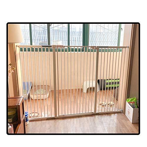 QIANDA Cancelletto di Sicurezza per Porte E Scale Extra Alto 120cm Forte Cancello for I Grandi Cani Sicurezza Recinto Adatto A Porte, Tutta La Larghezza 69-200cm (Color : White, Size : 104-110cm)