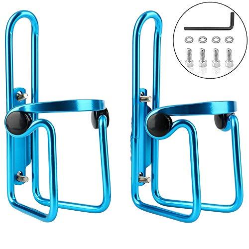 Portabidon Bicicleta Portavasos Universal Accesorios Bicicleta AleacióN De Aluminio con Agujeros para Tornillos para Bicicletas Bicicleta De MontañA Bicicleta De Carreras Blue,Free Size