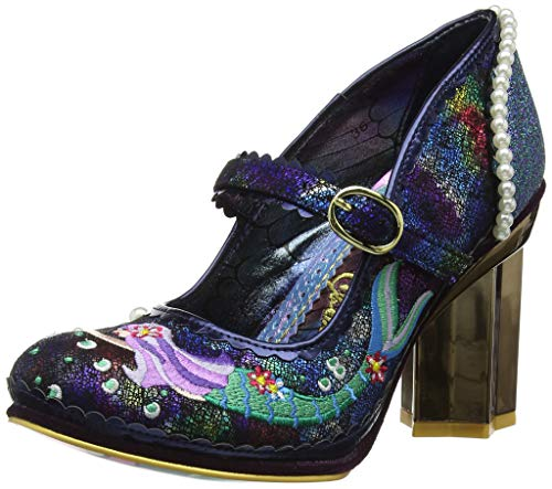 Irregular Choice Damen Mer Magic Mary Jane Halbschuhe, Blue Navy B, 38 EU