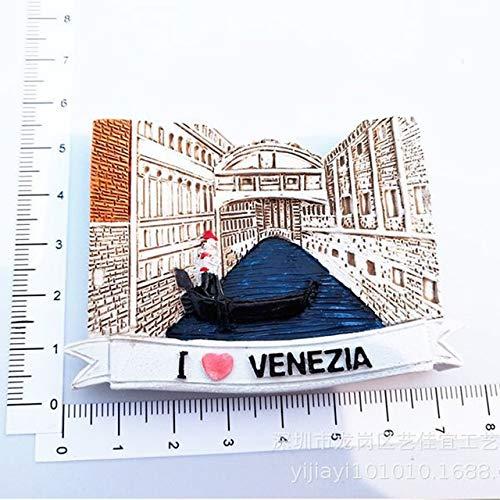 Nonebranded Imán de Resina para Nevera, Recuerdos de Italia, góndola de Venecia, Perugia, Verona, Roma, Coliseo, Fuente de Trevi, Pegatinas magnéticas