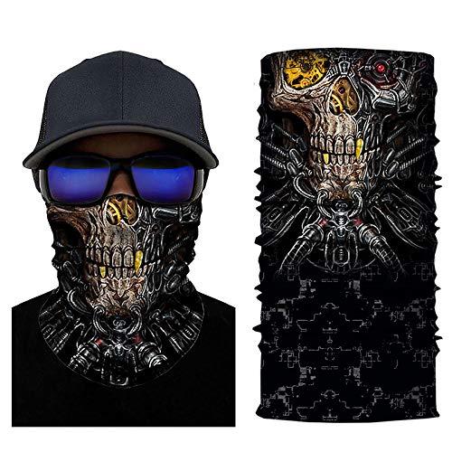 Unknow Coeficiente de Metal 3D Impresión de código Variedad Deportiva Turbante mágico Ciclismo Sombrero Máscara Babero