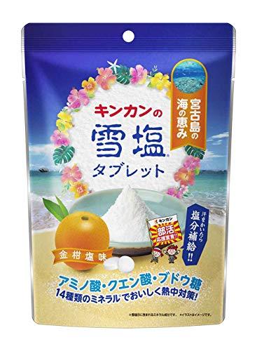 キンカン 雪塩タブレット 金柑塩味 90g ×6個