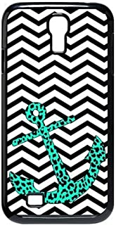 Creative House Beautiful Mint Leopard Chevron Anchor for Samsung Galaxy S4 9500 Best Durable Case