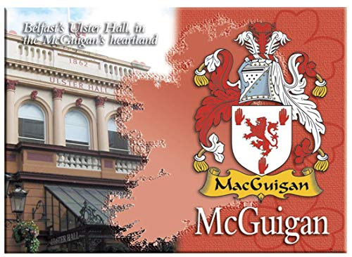McGuigan Irish Family Name Souvenir Metallic Picture Fridge Magnet