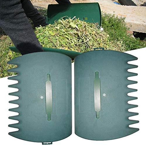 Groust 1 Paire de Feuilles de Cour de Jardin, râteau à Main, Pince à Feuilles avec Griffes de Feuilles pour ramasser Facilement Les Mauvaises Herbes