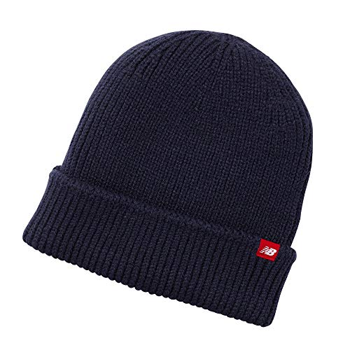 New Balance Men's and Women's Oversized Watchman's Beanie Knit Hat with Ribbed Cuffs (Team Navy, One Size)