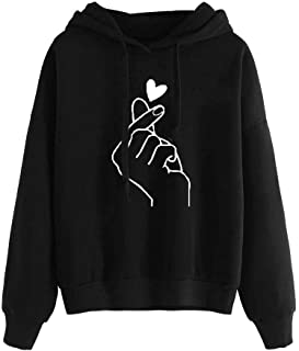 for Women,Women Girls Heart Printed Hooded Sweatshirts...