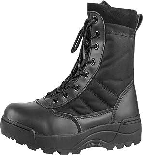navegar por las últimas colecciones diferentemente sitio oficial Amazon.es: Negro - Botas de servicio militar / Calzado de ...