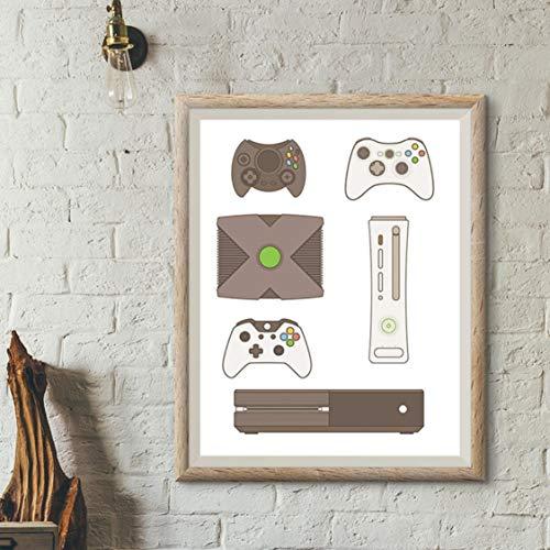 Danjiao Per Xbox Decor Controller Di Gioco Quadri Su Tela Immagini Murali Stampe Su Tela Per Videogiochi E Poster Decorazioni Per Sale Da Gioco camera da letto 60x90cm